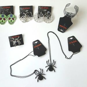 {Halloween Label} Ring Necklace Bracelet Earrings